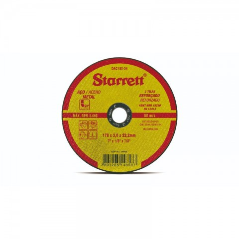"DISCO DE CORTE 7"" DAC180-34 STARRET"