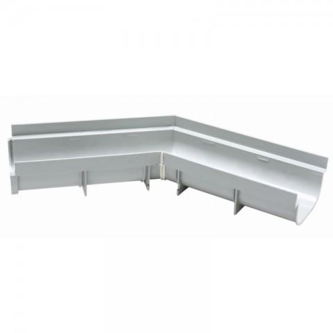ESQUADRO 45° INTERNA PVC PARA CALHA DE PISO 130 MM X 75 MM TIGRE