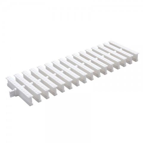 GRELHA PVC PISO ARTICULADA BRANCA 130 MM x 500 MM - PEDESTRE TIGRE