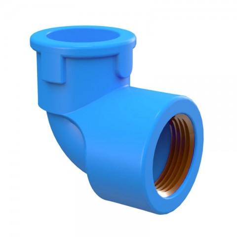 "JOELHO 90° PVC AZUL 1/2"" (20 MM) X 1/2"" TIGRE"