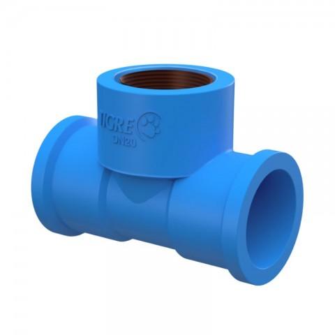 """TE PVC AZUL 1/2"""" (20 MM) X 1/2"""" TIGRE"""