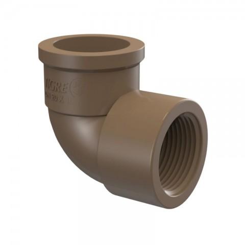 "JOELHO 90° PVC SOLDA L/R 1/2"" (20 MM) TIGRE"